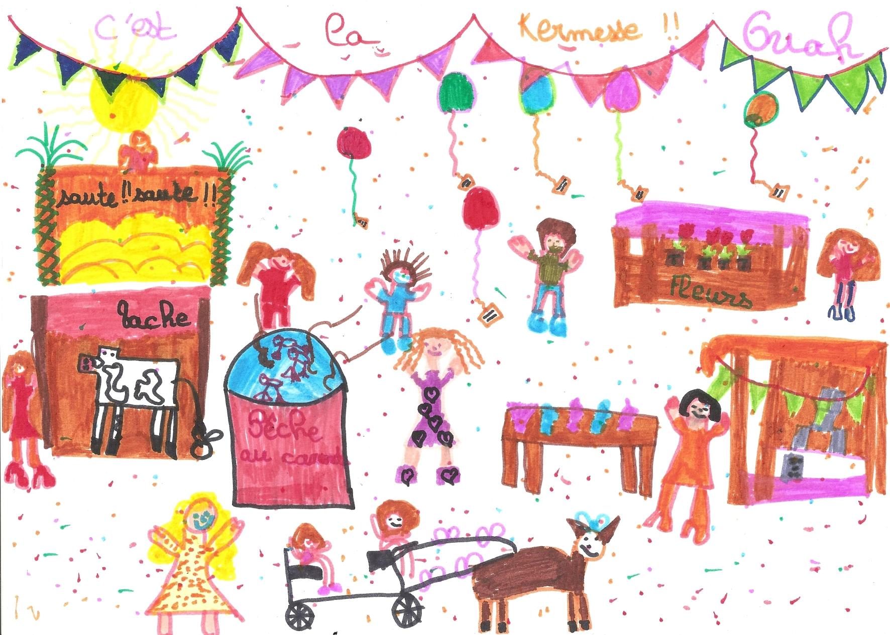 Kermesse blog de l 39 ape de l 39 cole publique de bourg blanc - Kermesse dessin ...