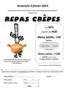 réservation repas crêpes 2014 bigoudène