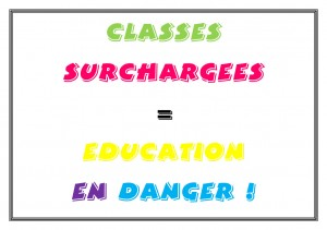 CLASSES SURCHARGEES=EDUC EN DANGER