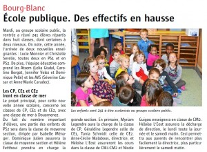 article Le Télagramme 2-09-2015